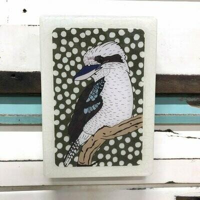 Medi Woodblock - Kookaburra