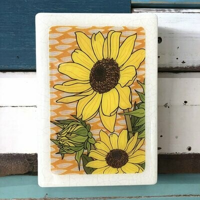 Medi Woodblock - Sunflower