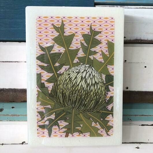 Maxi Woodblock - Birds Nest Banksia