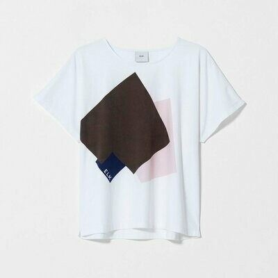 Airi Tee - White with Print