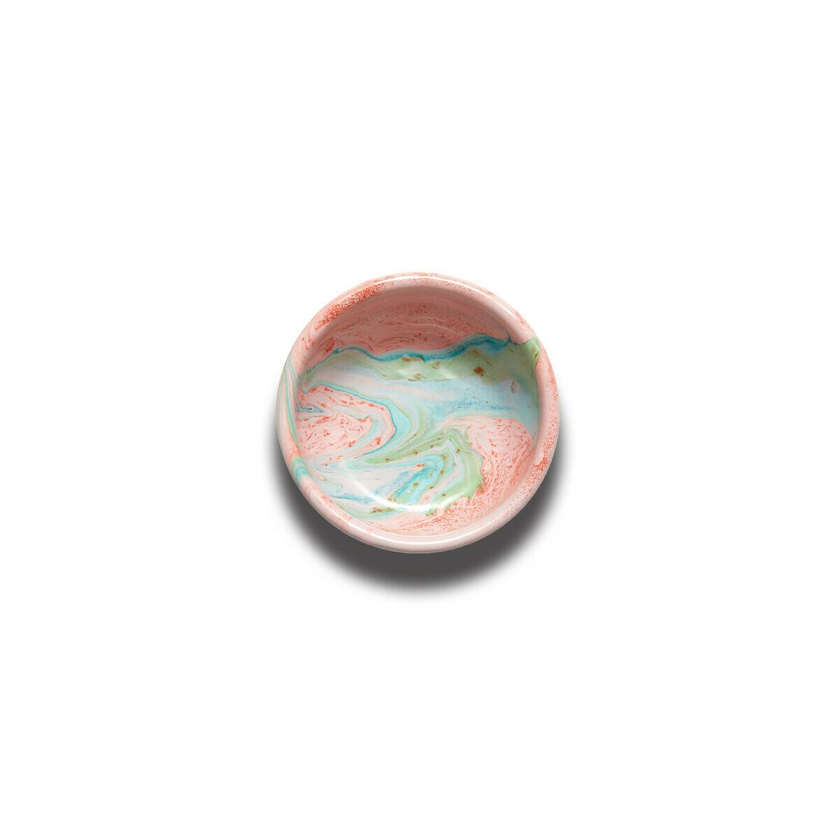 Enamelware Bowl 12cm - Blush Marble