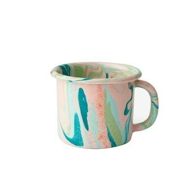 Enamelware Mug - Blush Marble