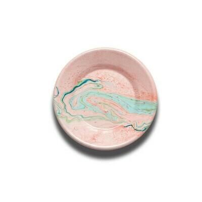 Enamelware Plate 21cm - Blush Marble