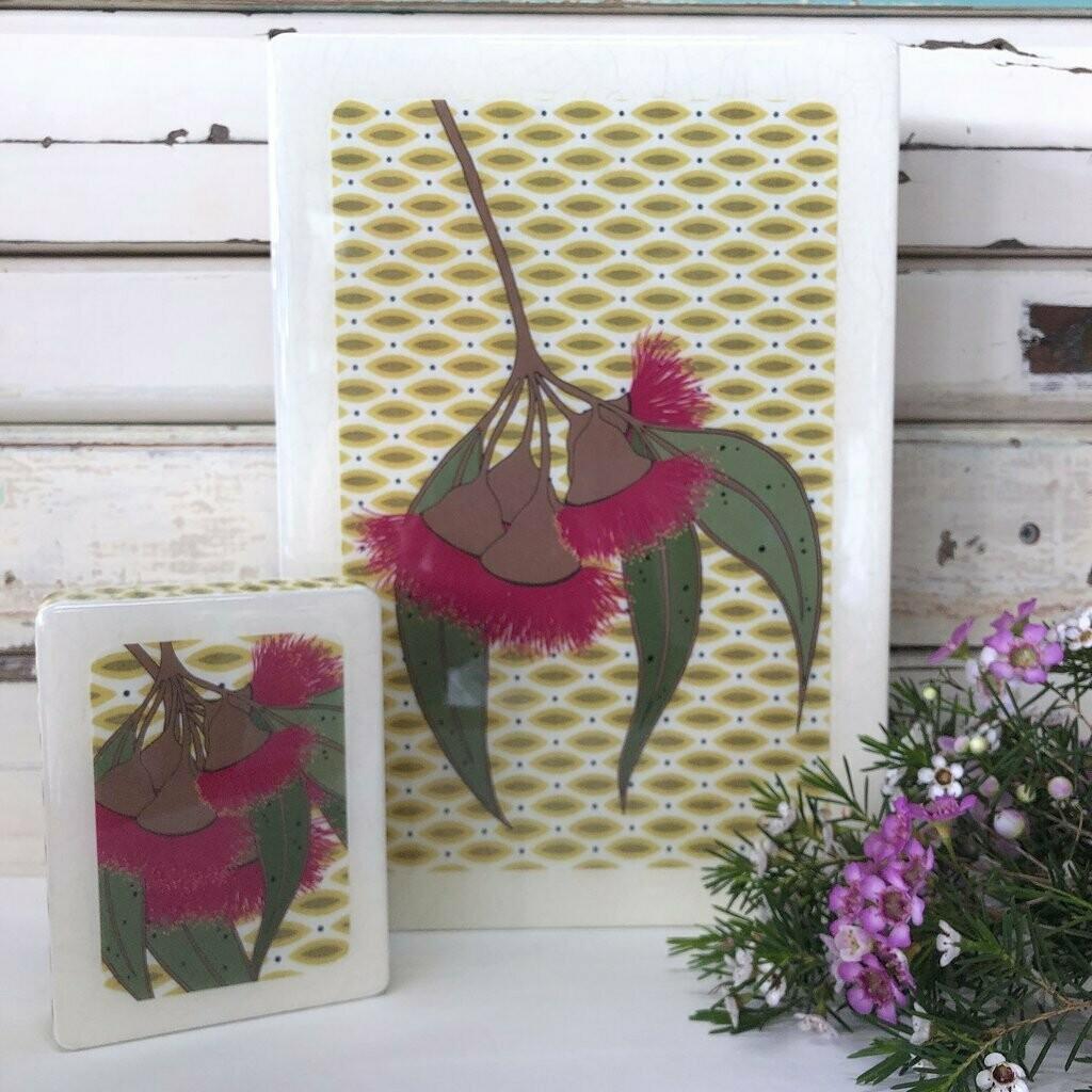 Mini Woodblock - Gum Blossom