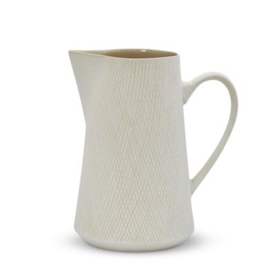 Etchings Ceramic Large Jug - White