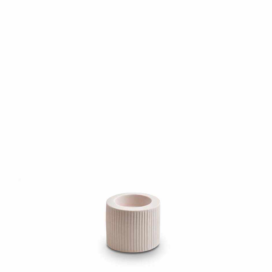 Infinity Ceramic Small Tealight - Nude