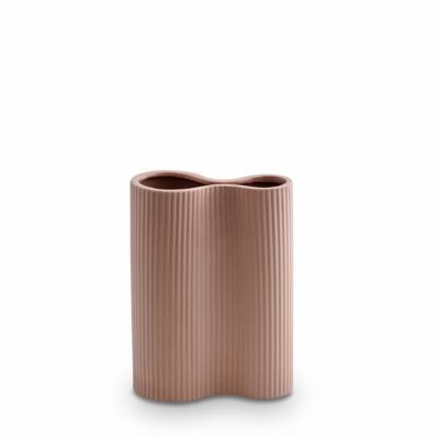 Infinity Ceramic Small Vase - Ochre