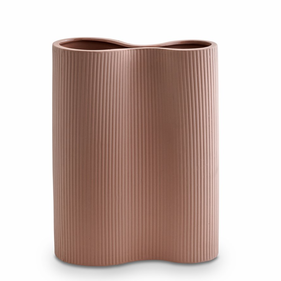 Infinity Ceramic Large Vase - Ochre