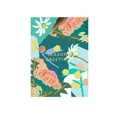 Christmas Greetings Card - Green