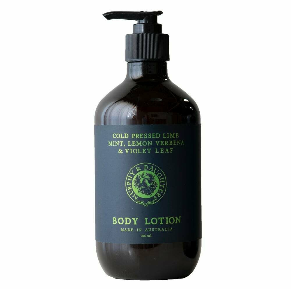 Hand & Body Lotion - 500ml - Cold Pressed Lime, Mint, Lemon Verbena and Violet Leaves