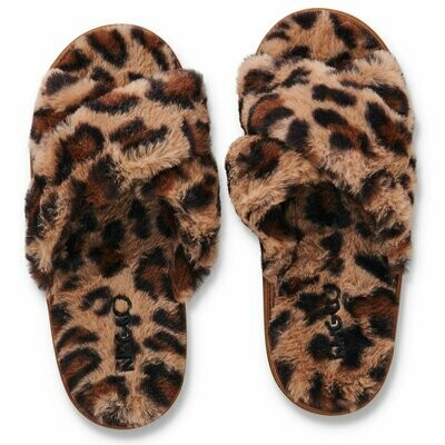 Adult Plush Slippers - Cheetah