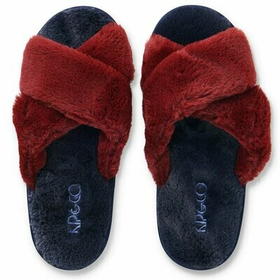 Adult Plush Slippers - Midnight Merlot