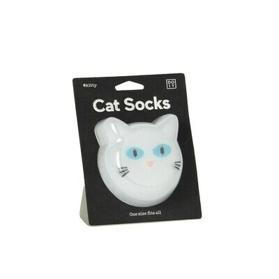 Cat Socks - White - One Size