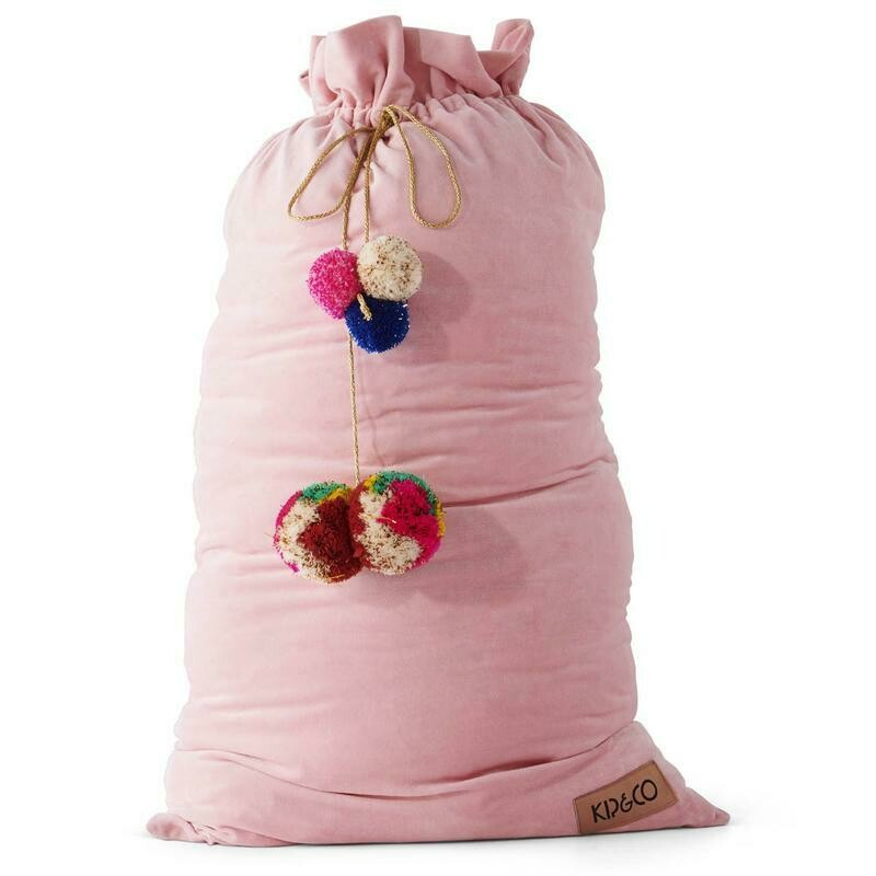 Velvet Santa Sack - Pink