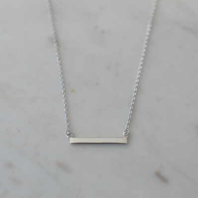 Bar Necklace - Sterling Silver