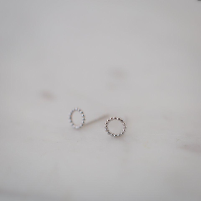 Dotty Oh Stud Earrings - Sterling Silver