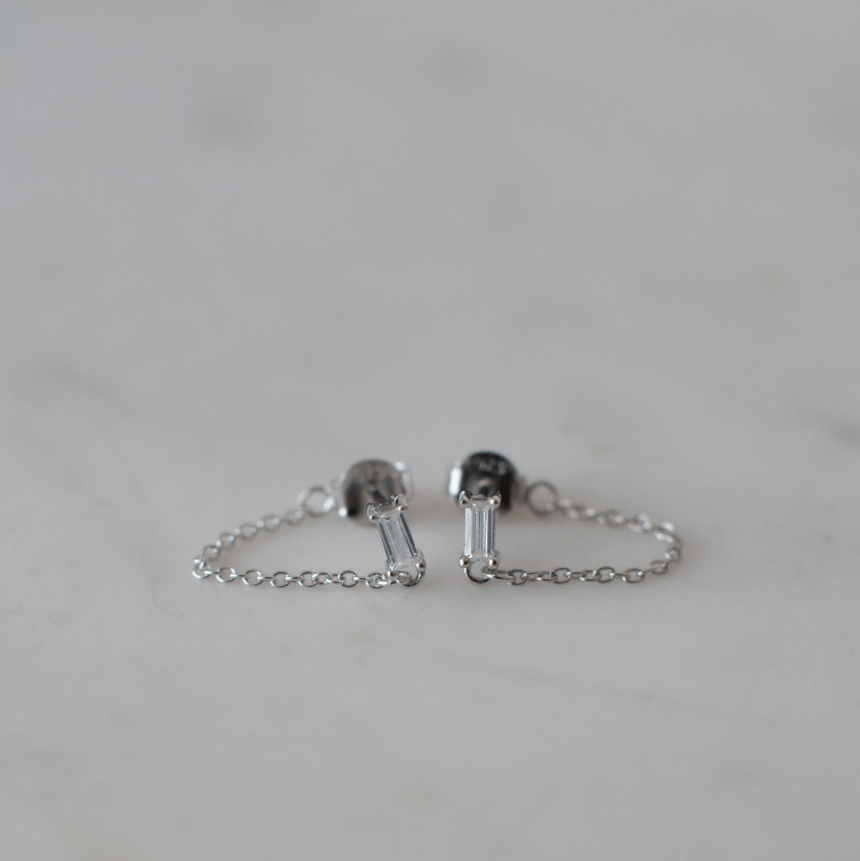 Your Rock Chain Stud Earrings - Sterling Silver