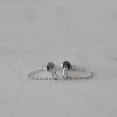 Your Rock Chain Stud Earrings - Sterling Silver