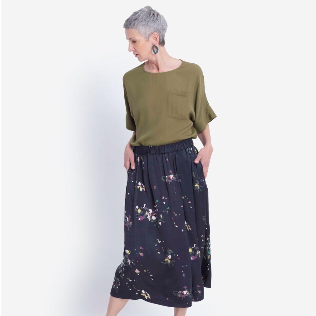 Galia Skirt - Black Multi