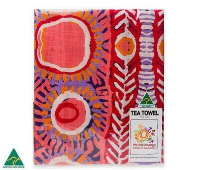 Cotton Tea Towel - Aboriginal Art - Murdie Moriis