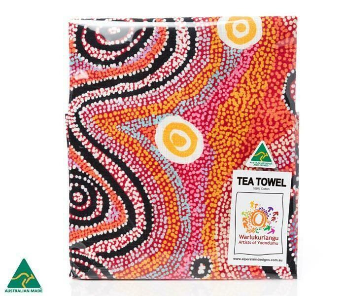 Cotton Tea Towel - Aboriginal Art - Otto Sims