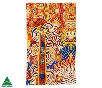 Cotton Tea Towel - Aboriginal Art - Nora Davidson