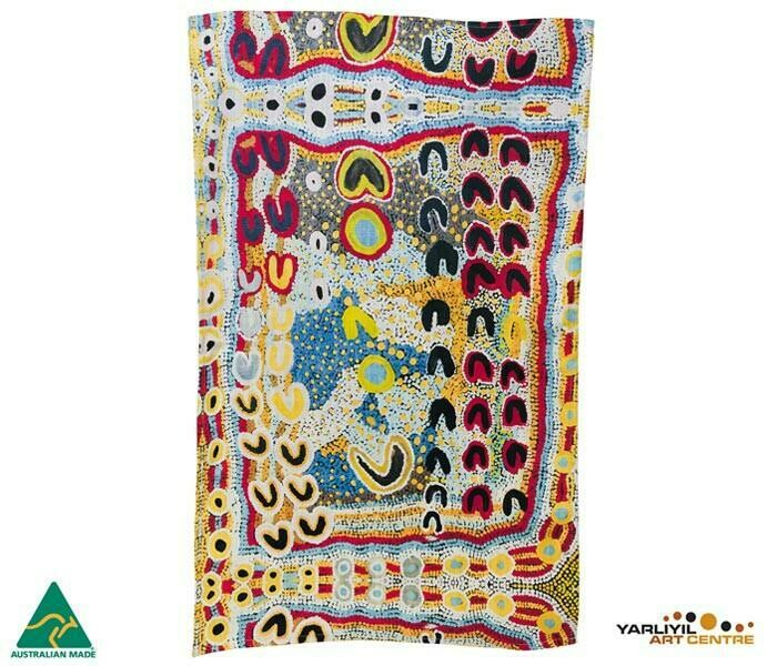 Cotton Tea Towel - Aboriginal Art - Rosie Lala