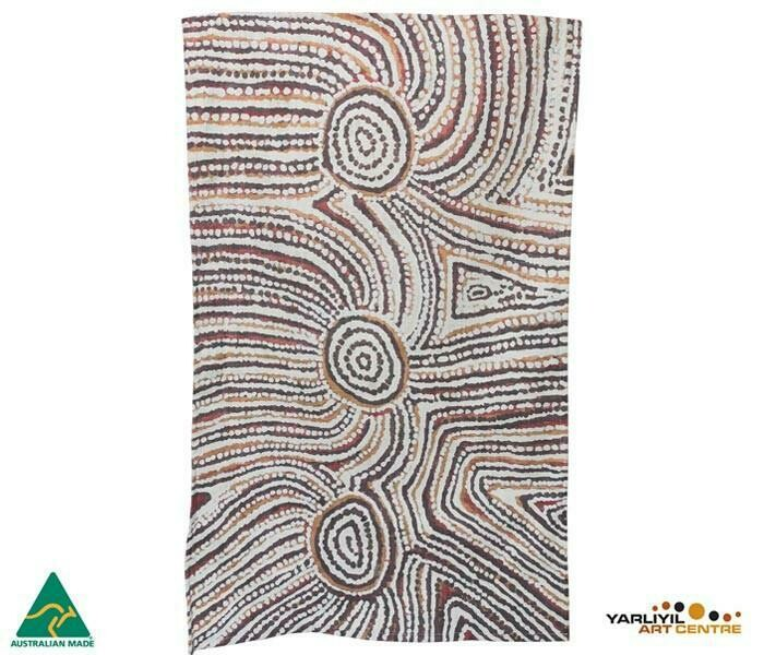 Cotton Tea Towel - Aboriginal Art - Lulu Trancollino