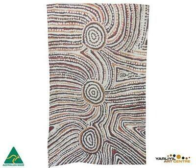 Cotton Tea Towel - Aboriginal Art - Lulu Trancollino