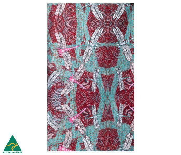 Cotton Tea Towel - Aboriginal Art - Sheryl J Burchill - Ocean
