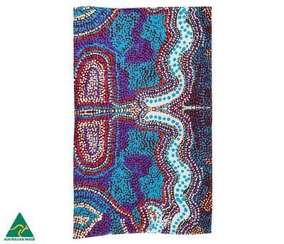 Cotton Tea Towel - Aboriginal Art - Elaine Lane