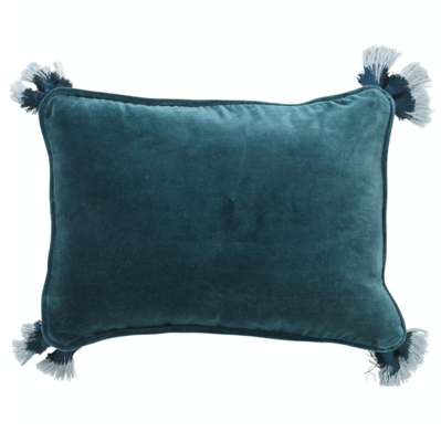 Velvet Souk Cushion - Green Sea