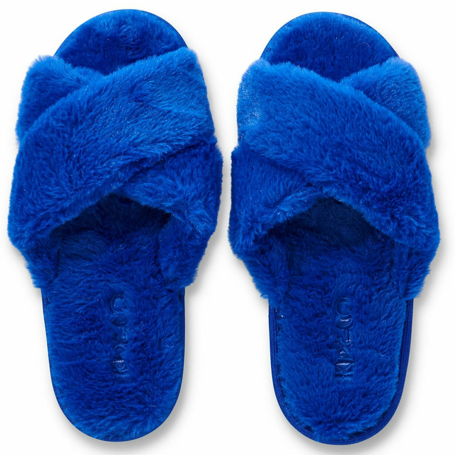 Adult Plush Slippers - Dazzling Blue