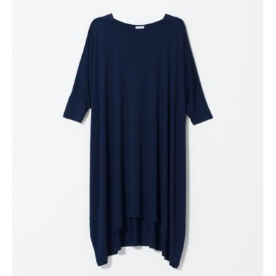 Wide Stretch Dress - Navy