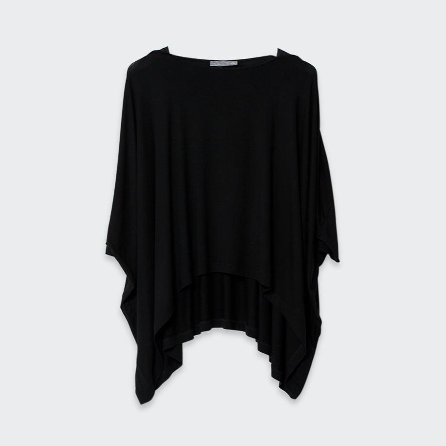 Wide Stretch Top - Black