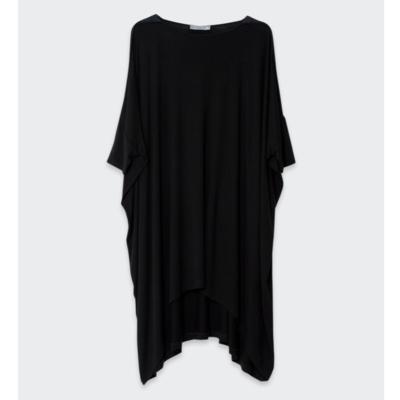 Wide Stretch Dress - Black