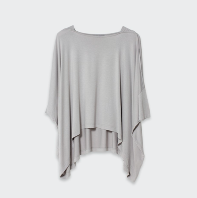 Wide Stretch Top - Oyster