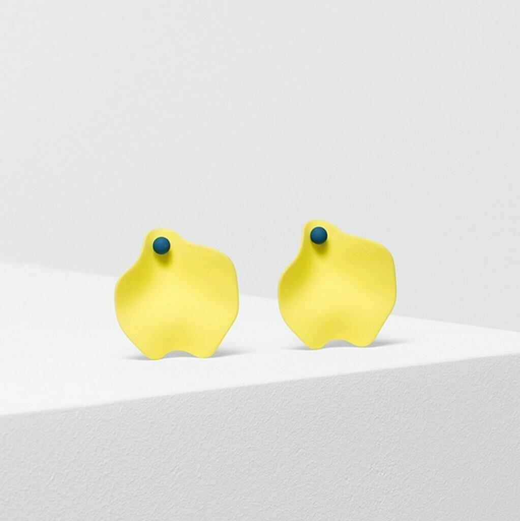Petal Earrings - Lemon