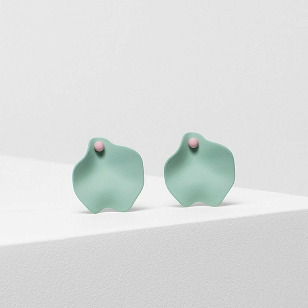 Petal Earrings - Mint