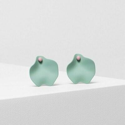 Petal Earrings - Mint