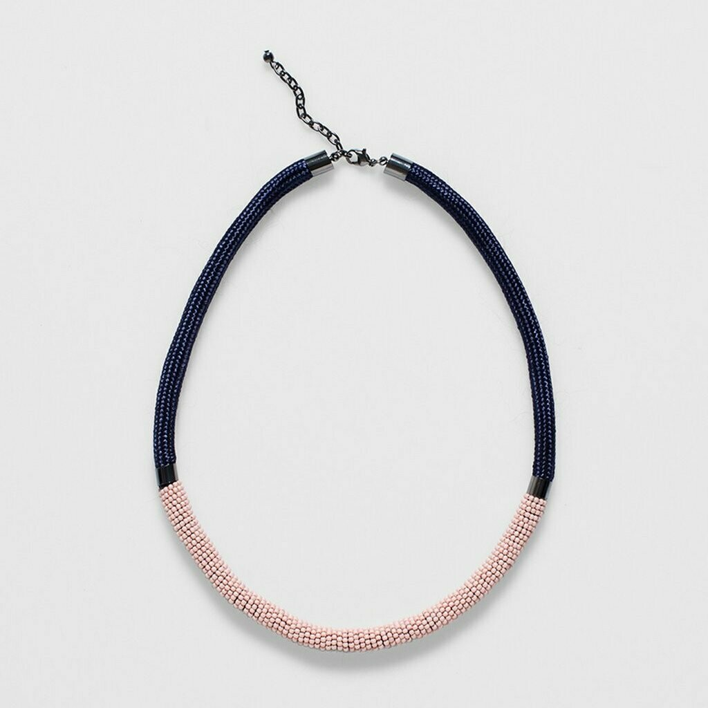 Rek Necklace - Silver Pink
