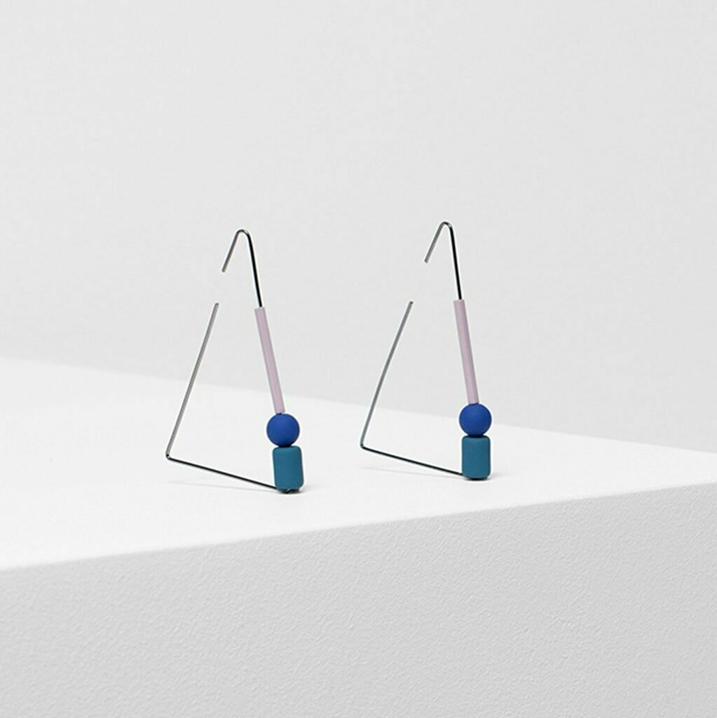 Dakin Earrings - Teal Blue