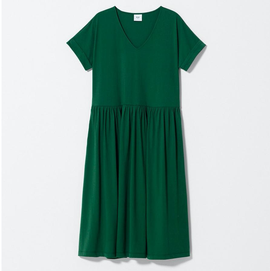 Alix Organic Dress - Pesto