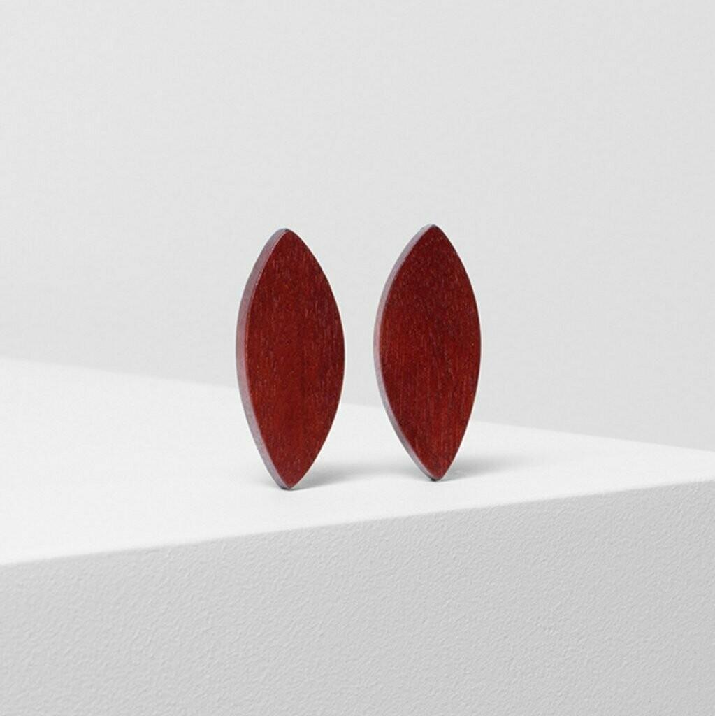 Leaf Clip On Earrings - Rust