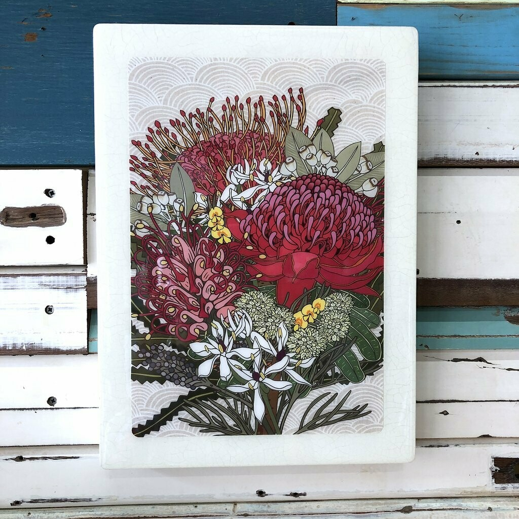 XL Woodblock - Native Bloom