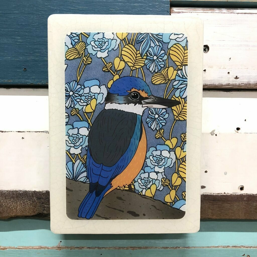 Medi Woodblock - Sacred Kingfisher