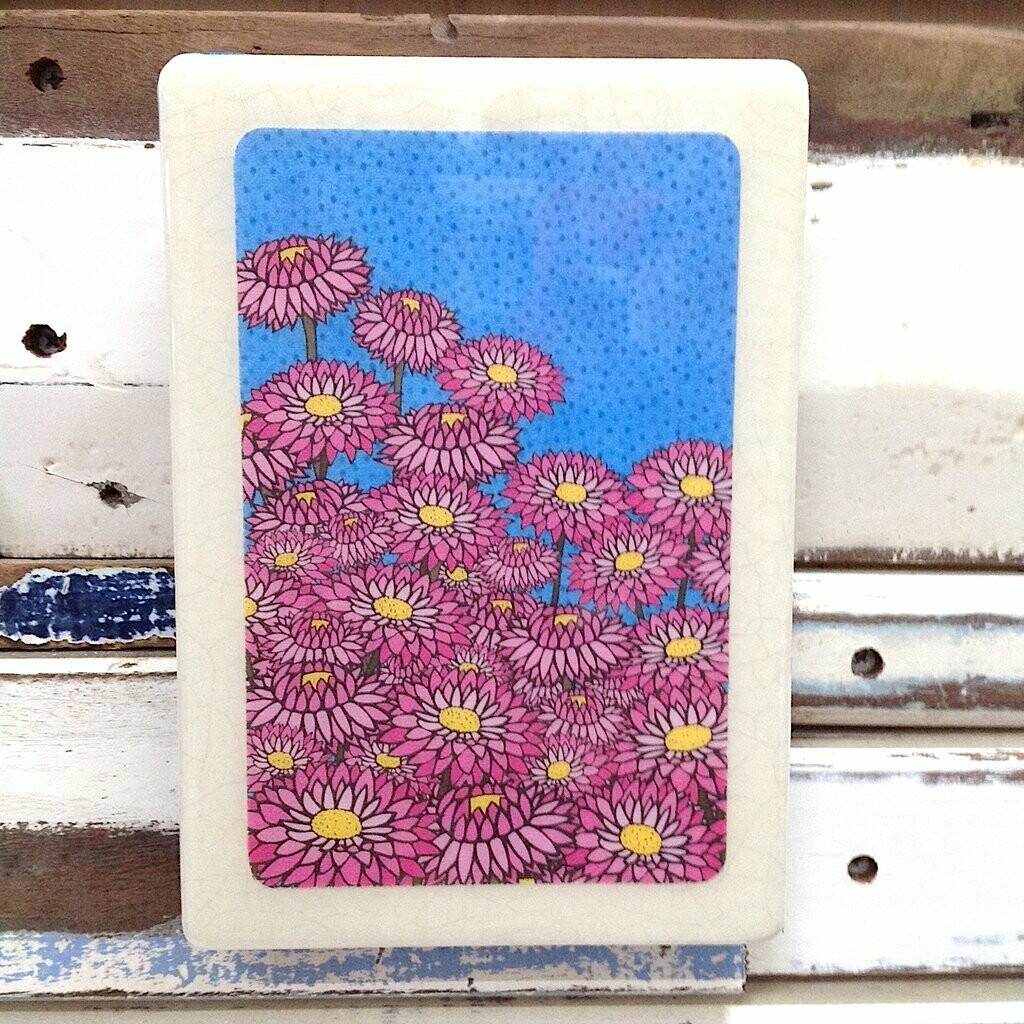 Medi Woodblock - Pink Everlasting