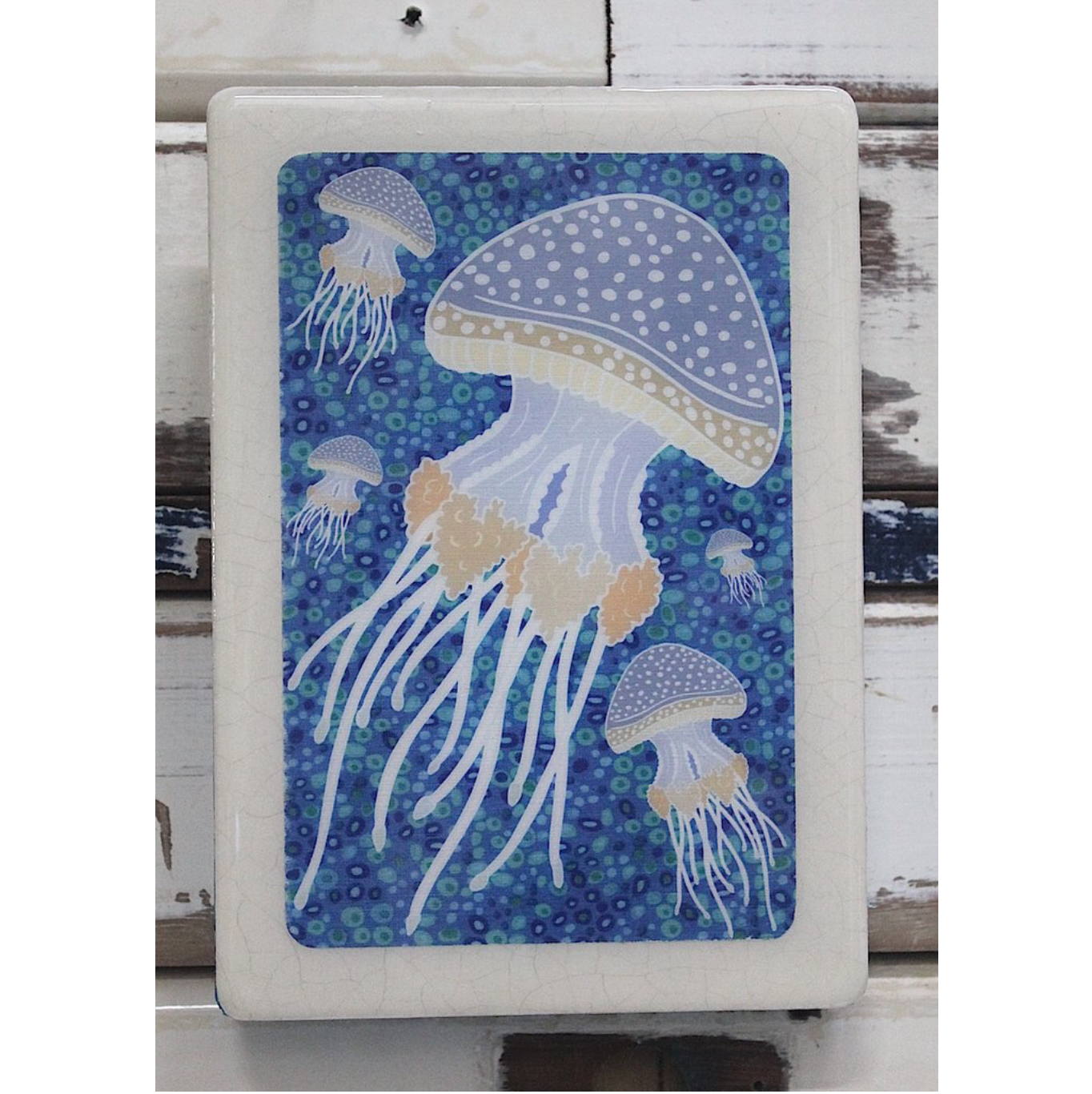 Medi Woodblock - Abrolhos Jellyfish