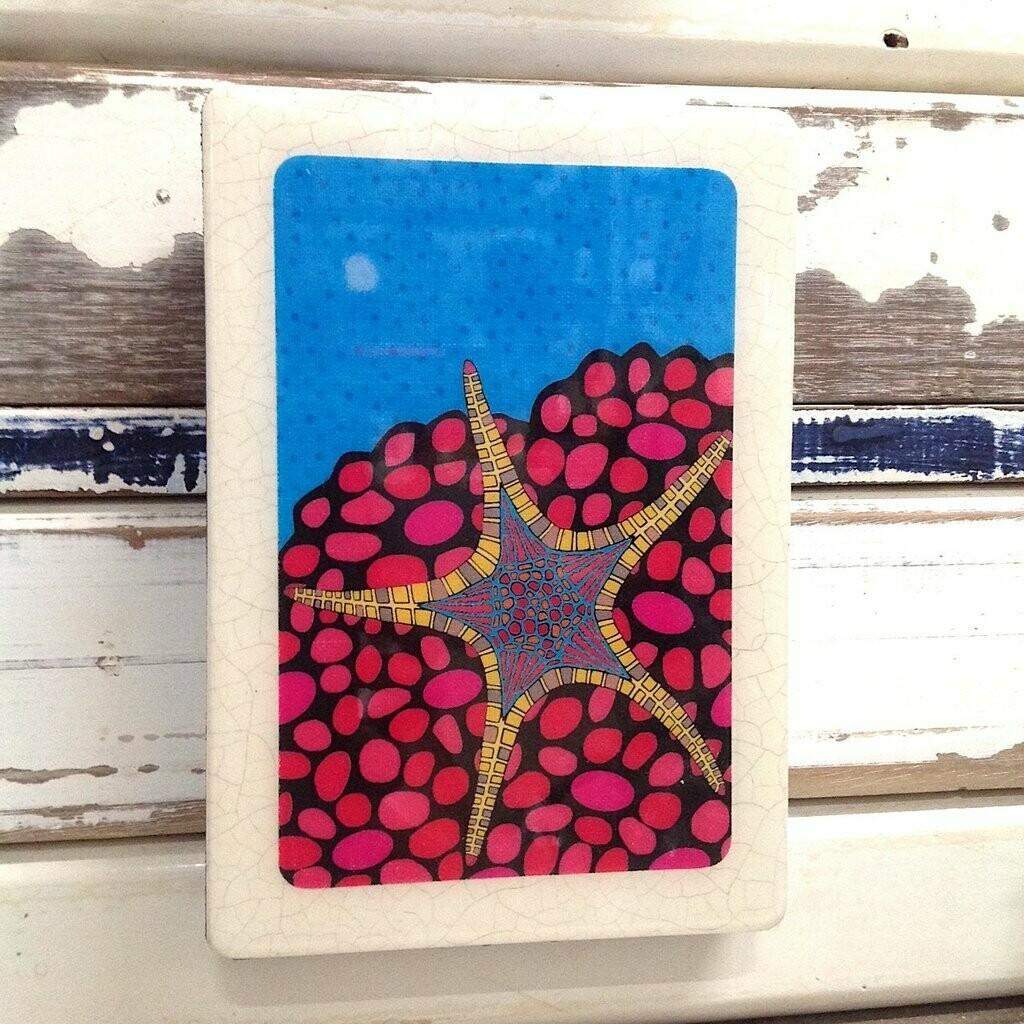 Medi Woodblock - Starfish
