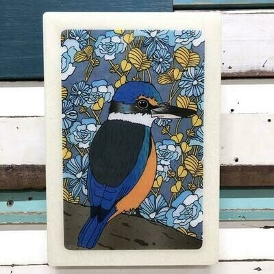 Maxi Woodblock - Sacred Kingfisher